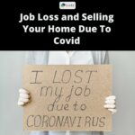 man holding sign selling a house during covid-19