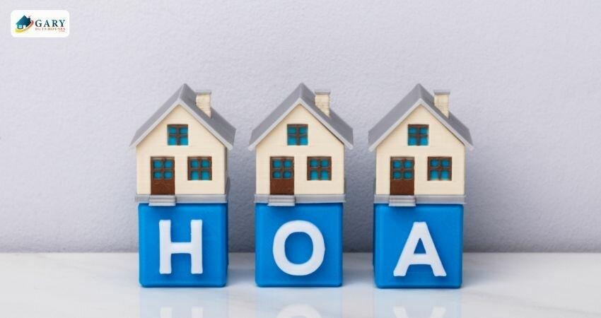 homes sitting on blocks reading HOA