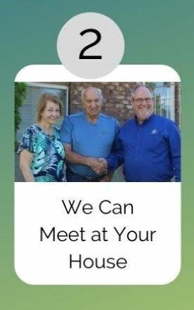 Gary meeting a client at their house