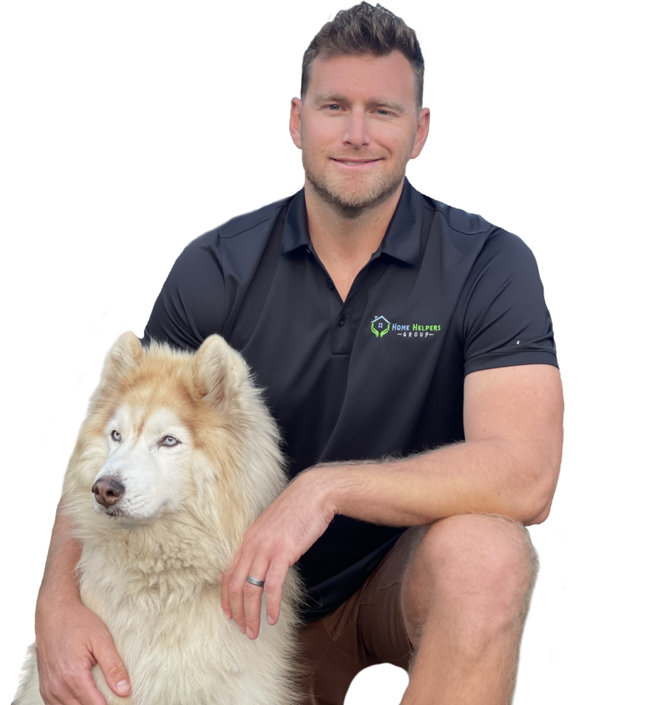 Dean Profile Image with Fluffy Dog