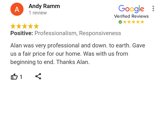 Google Review - Andy Ramm