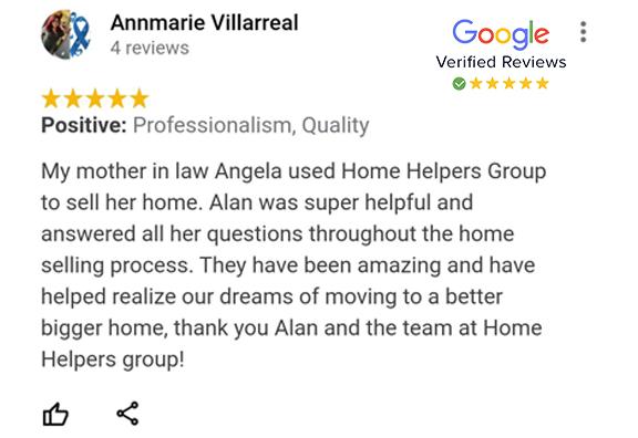 Google Review - Annmarie Villarreal