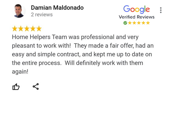 Google Review - Damian Maldonado