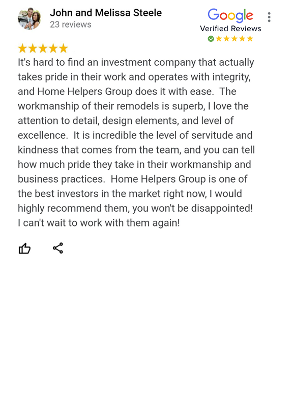 Google Review - John and Melissa Steele