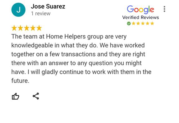 Google Review - Jose Suarez