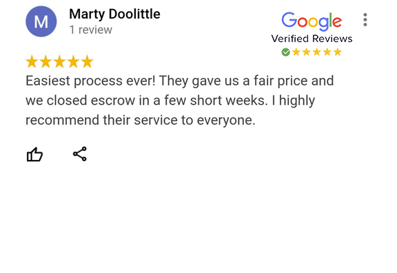 Google Review - Marty Doolittle