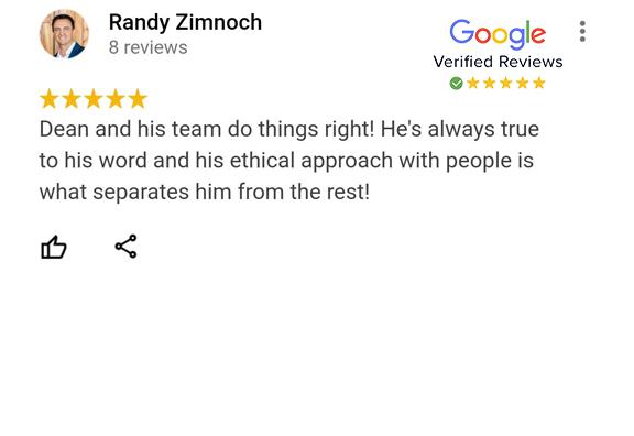 Google Review - Randy Zimnoch