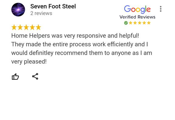 Google Review - Seven Foot Steel