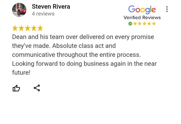 Google Review - Steven Rivera