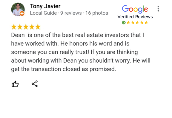 Google Review - Tony Javier