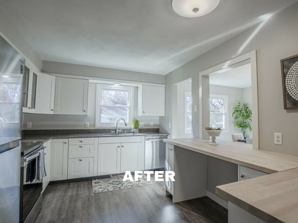 Steven St in Sun Prairie kitchen after rehab