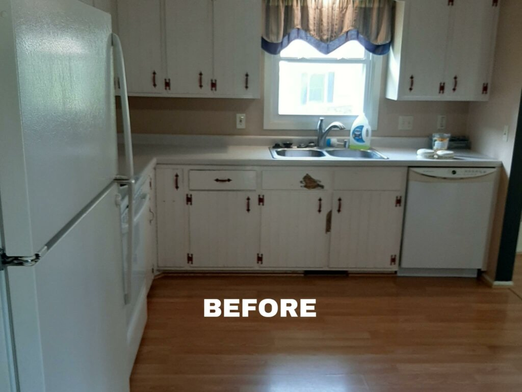Steven St in Sun Prairie kitchen before rehab