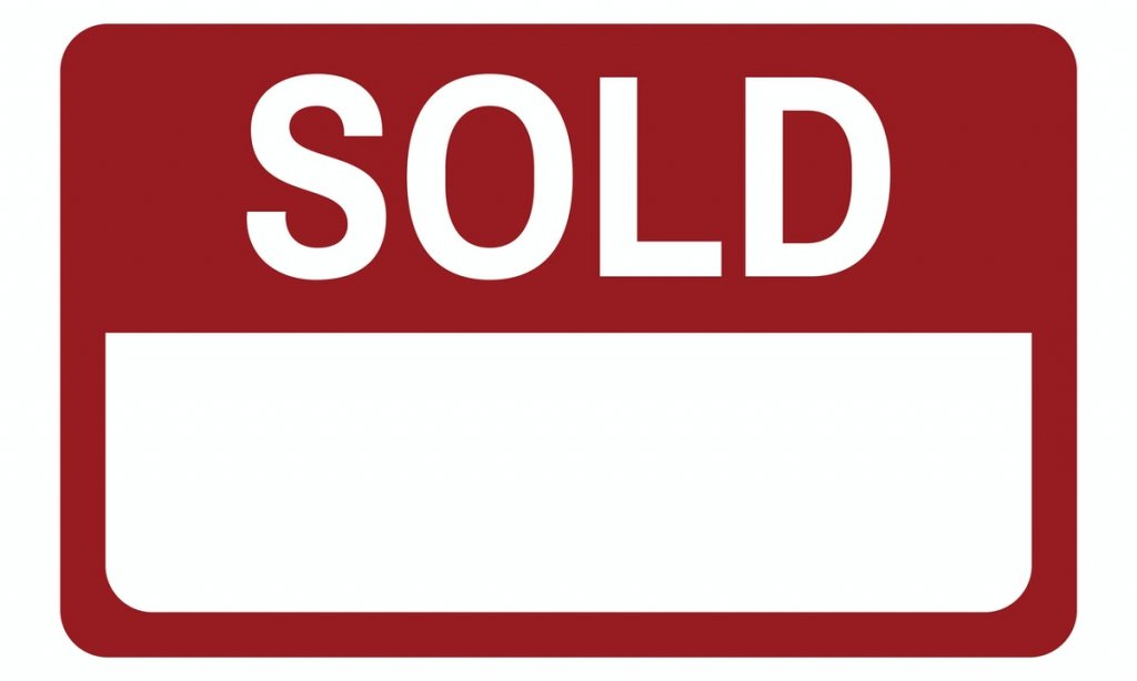 Your house is sold