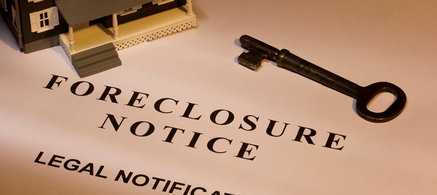 live in  and get a foreclosure notice of default?