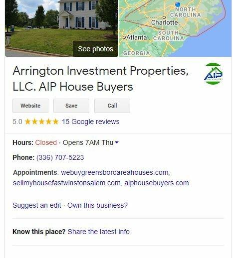 AIP House Buyers in Greensboro NC