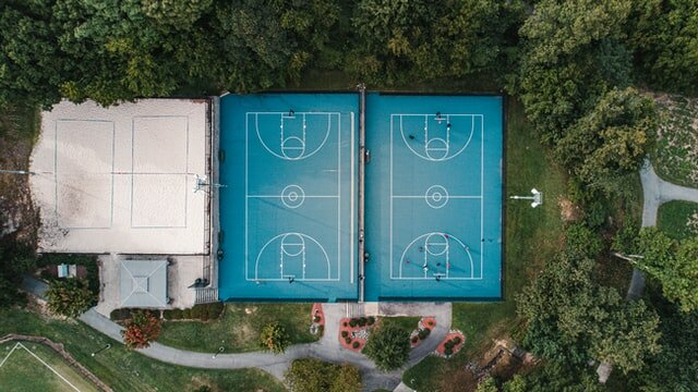 Volleyball and basketball courts in Greensboro