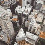 Aerial view of buildings in Charlotte, NC