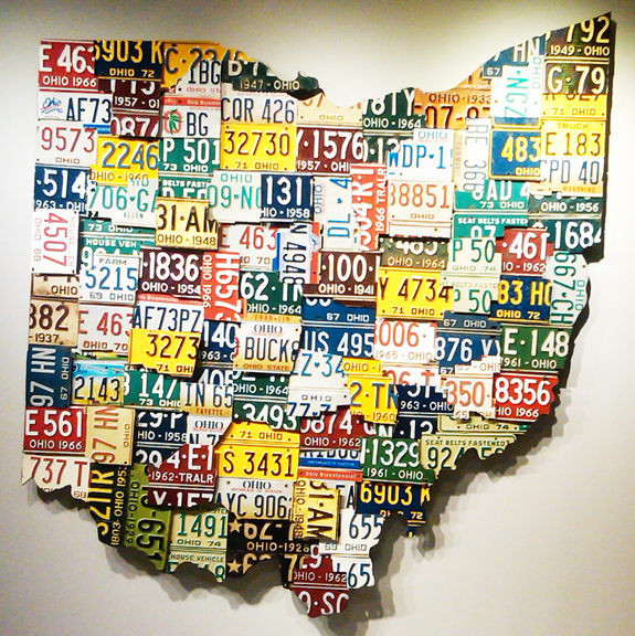 State of Ohio in License Plates