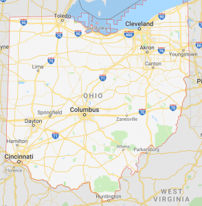 State of Ohio Map; We Buy Houses OH; Sell Your House Fast OH