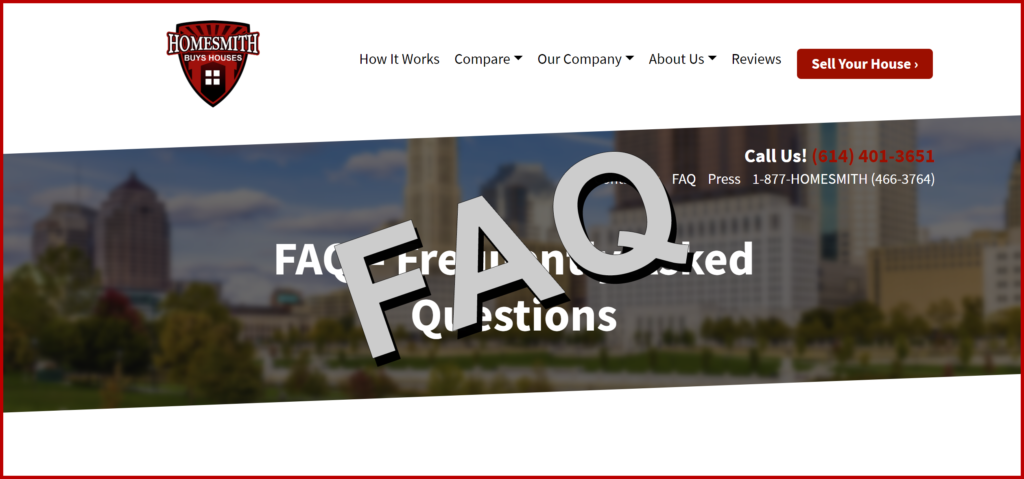 FAQ - Homesmith Buys Houses Columbus OH