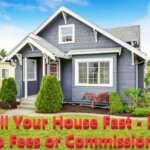 house in detroit michigan with words overlaying that states sell your house fast - pay no fees or commissions