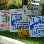 we buy houses bandit signs