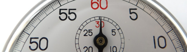 a stop watch showing you how to sell your house without any waiting in Atlanta