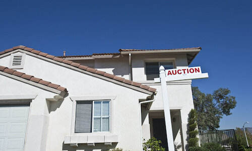 a house sold at auction