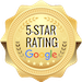 five star rating on Google