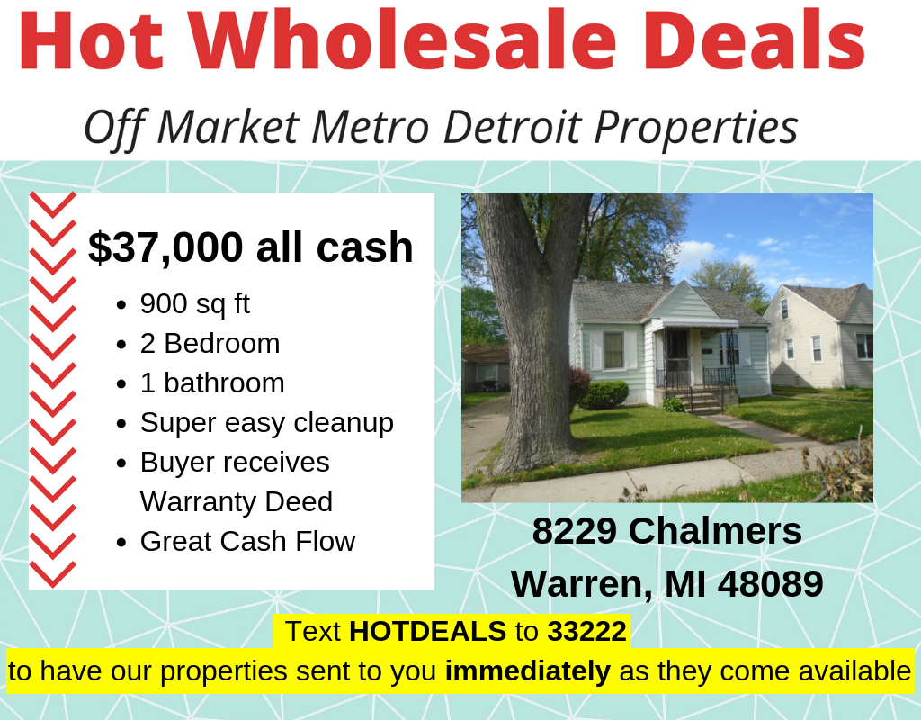 Investment Properties in Metro Detroit - Fixer Upper Deals