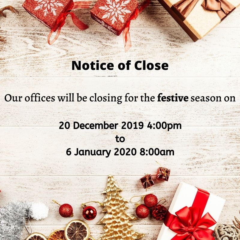 Notice of Close for Quick Buy Properties