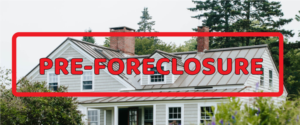 Pre-foreclosure sign over a house from Newark, New Jersey