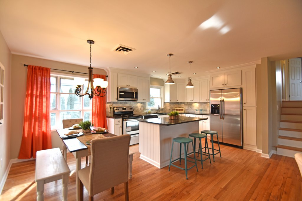 Staged kitchen in Easton, PA