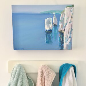 Bathroom decorated with beach theme located in Hamilton Township, NJ.
