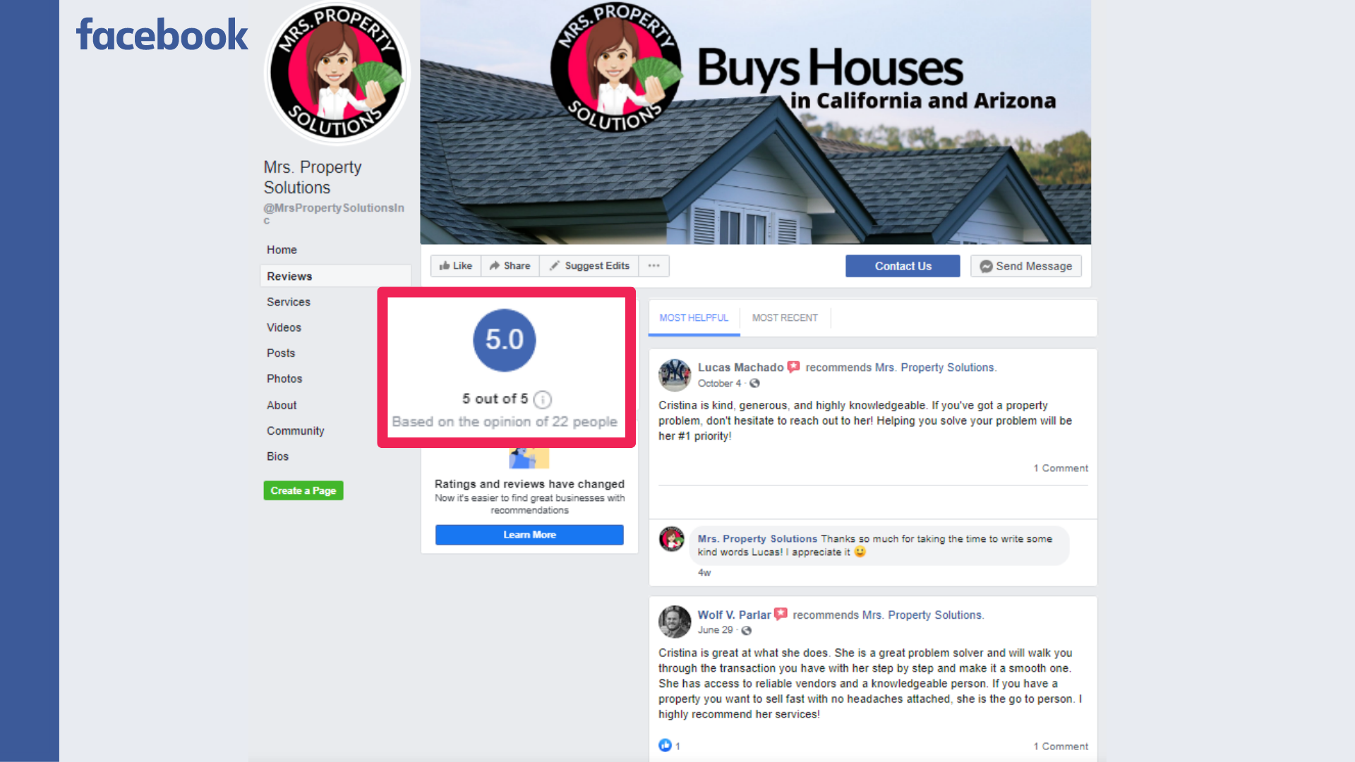 home buyer facebook reviews