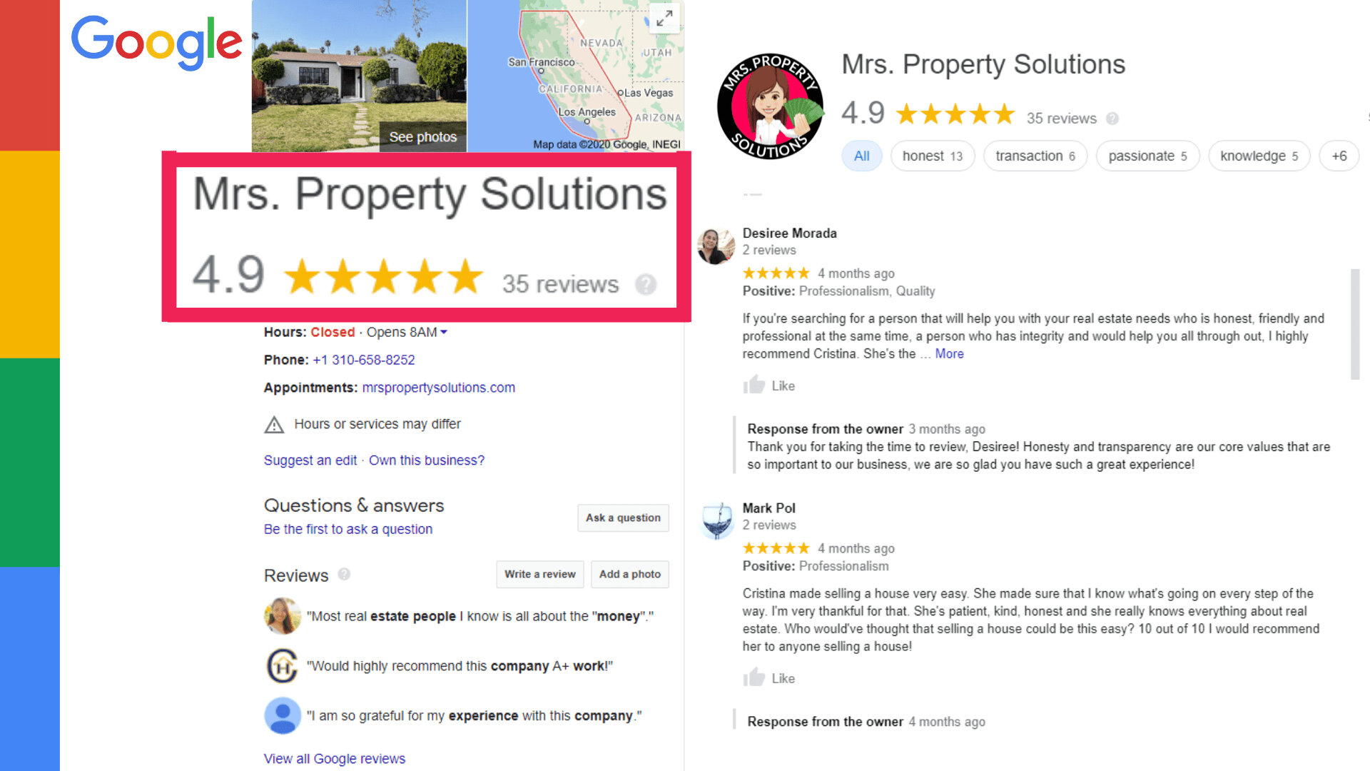 cash buyer google reviews