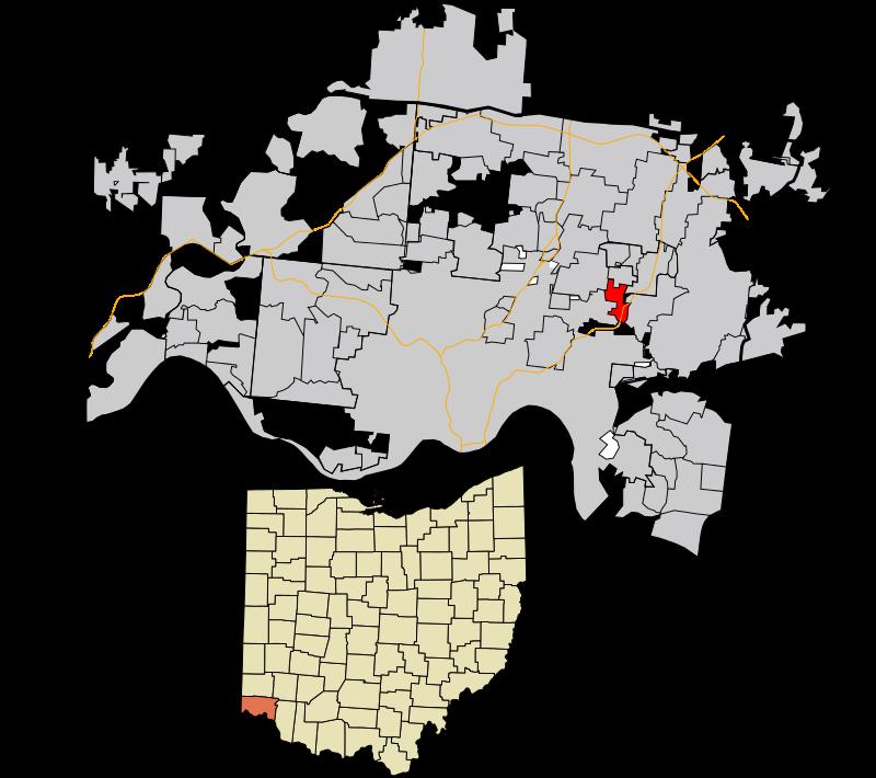 Silverton OH hamilton county - map