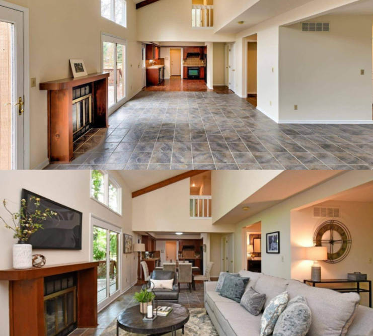 Stage Your Home Before You Sell- Before and after