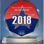 San Antonio Award - Rescue Real Estate Texas 2018