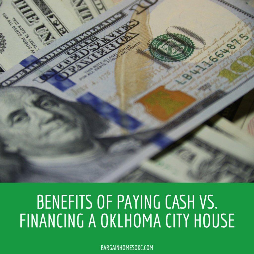 Benefits of paying cash vs financing