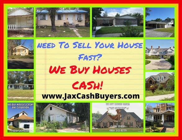 We Buy Houses for Cash in Jacksonville and Saint Augustine