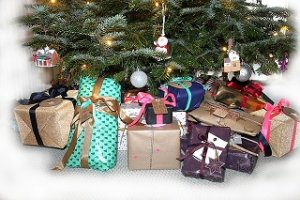 Gifts all wrapped under the tree in New Hope PA
