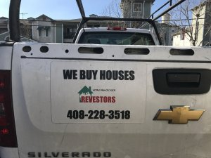 we buy houses truck REVestors LLC ad