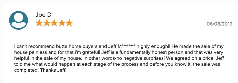 Butte Home Buyers - Testimonials 9