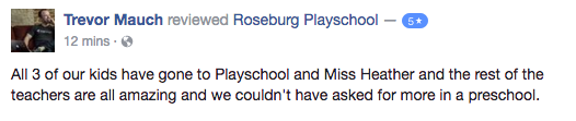 roseburg playschool coop reviews