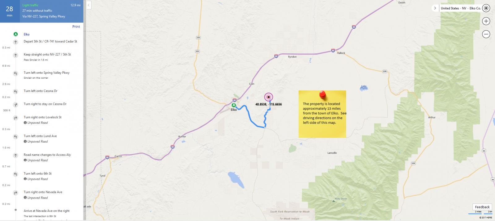 2.33 acres Elko County LAST CHANCE RANCH Unit 2 014-025-004 map