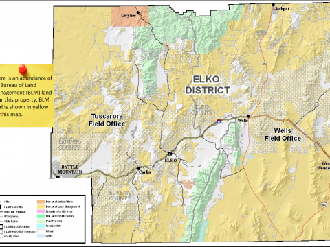 BLM land in Elko county, NV