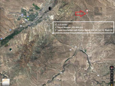 map 1.13 acres in Last Chance Ranch Unit 11 Elko Nevada w APN