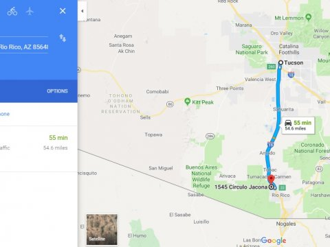 Driving Directions from Tucson