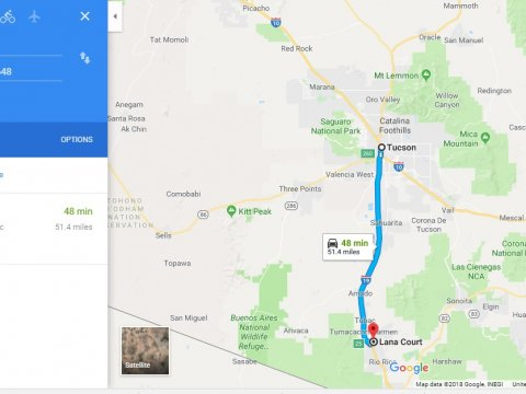 Google maps 2, 0.58 Acres, Rio Rico Arizona